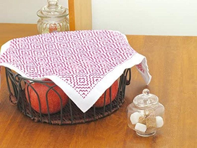 Sashiko cloth and thread kit 34 cm x 34 cm \u67ff\u306e\u82b1 SK-295 stitch on the pre printed line
