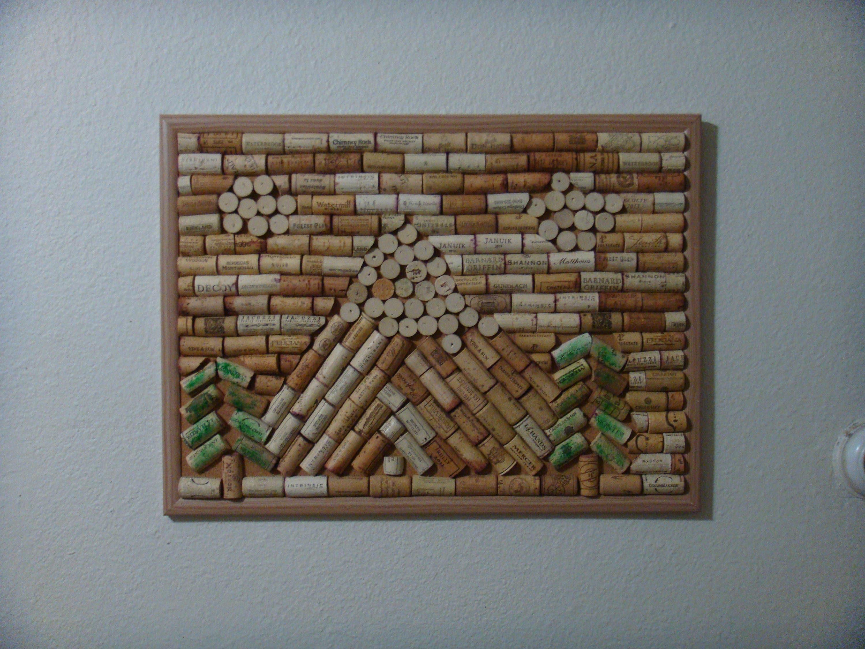 Arte de corcho de montaña arte de corcho tablero del corcho