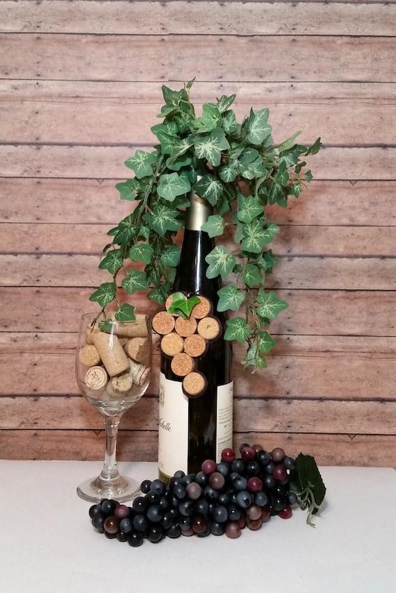 Wine Cork Grape Grape Decor Grape Cluster Grape Charm Wine Cork Gift Grapes Wine Cork Ornament Wine Bottle Decor Wine Cork Christmas