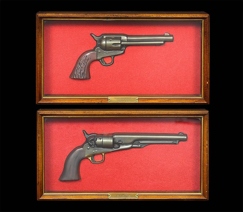3f14b0f0c92 Vintage 1800 s Colt Revolvers in Shadowbox Displays by