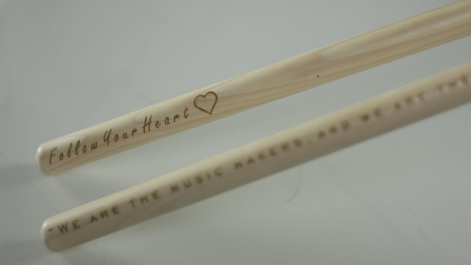 custom laser engraved drumsticks personalized with any etsy. Black Bedroom Furniture Sets. Home Design Ideas