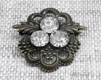 Vintage silver brooch Vintage jewellery Edwardian Brooch Vintage brooch Victorian brooch Flower brooch Edwardian jewellery Antique brooches