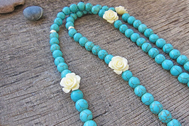 Long Tassel necklaces Statement necklace Turquoise necklace Blue necklace Boho Bohemian necklace Hippie Necklace Summer jewellery Girls gift