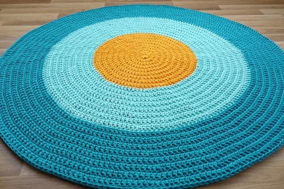 Tapis scandinave, tapis pour enfant, tapis au crochet, tapis rond, tapis de  chambre d'enfant, tapis rond jaune, tapis rond, tapis pour enfant, tapis ...