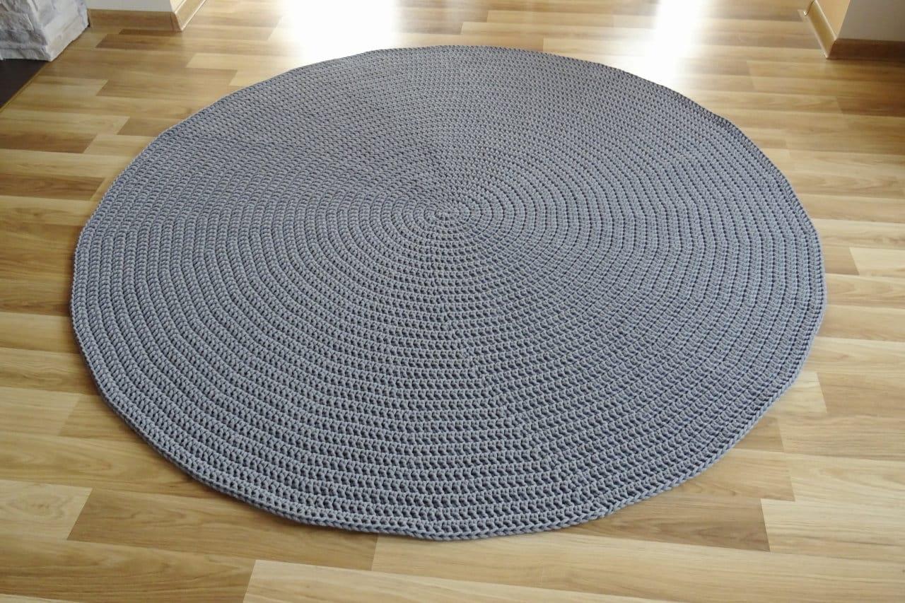 Teppich rund grau kinderzimmer teppiche spielteppich etsy - Teppich rund kinderzimmer ...
