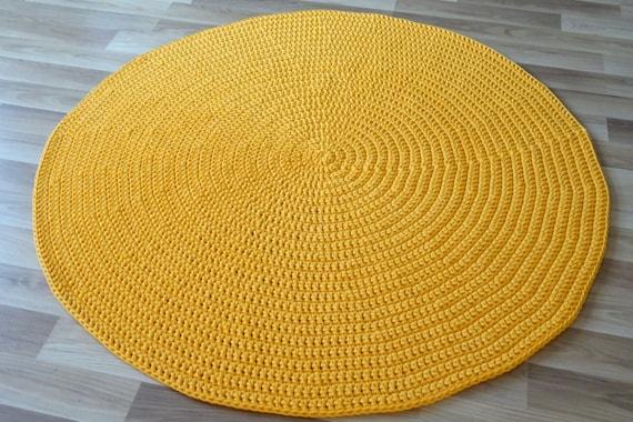 gelb teppich rund teppich rund gelb kinderzimmer deko etsy