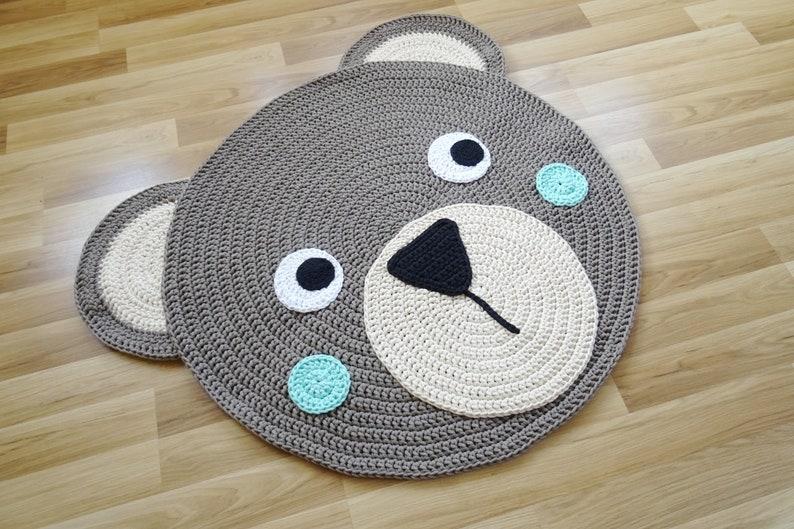 Bärenteppich, teppich rund, kinderzimmer teppich, teppich kinderzimmer,  kinderteppich, teppich gehäkelt,