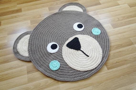 Teppich Kinderzimmer Teppich Rund Beige Teppich Teddy Etsy