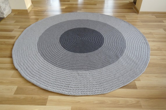 Chambre d'enfant décor gris, crochet tapis rond, tapis, bambin garçon  chambre, tapis de chambre d'enfant, crochet gris rond tapis de sol en  crochet, ...