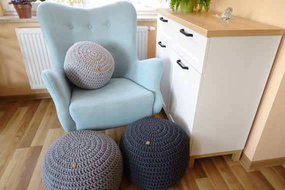 Remarkable Nursery Pouffe Nursery Ottoman Baby Shower T Knitted Ottoman Footstool Gray Pouffe Bean Bag Chair Crochet Pouf Nursery Footstool Gmtry Best Dining Table And Chair Ideas Images Gmtryco