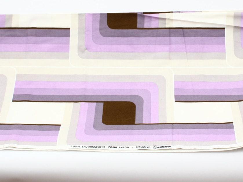 PIERRE CARDIN - unie d'ateliers d'art l'art l'art l'art de Munich - pattern op-art - décoration tissu Tissus - EXCLUSIF - environnement RAR 38055f