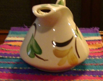 Vintage Yellow Ivy Puriton Beverage Jug, 1940's