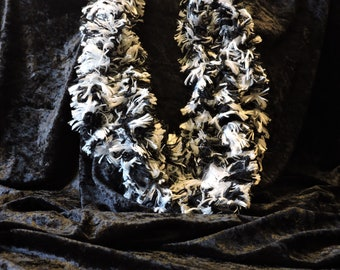 """Fur Yarn Scarf Necklace 12 - 18"""" Various Colors Available Homemade NEW W/Magnetic Closure"""