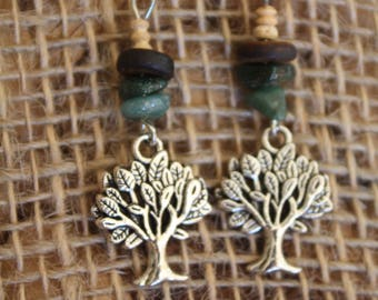 Earrings small trees