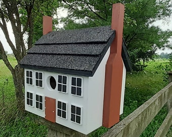 Colonial Birdhouse, Williamsburg Bird House, Handmade Birdhouse, Outdoor Wood Birdhouse, Unique Birdhouse, Wooden Birdhouse