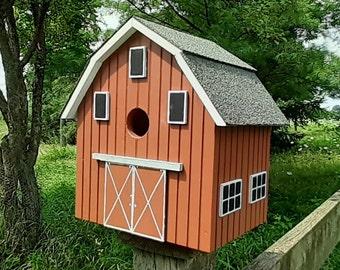 Barn Birdhouse, Stable Bird House, Birdhouse, Handmade Birdhouse, Outdoor Wood Birdhouse,  Unique Birdhouse, Wooden Birdhouse