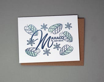 Mahalo Very Much. Card