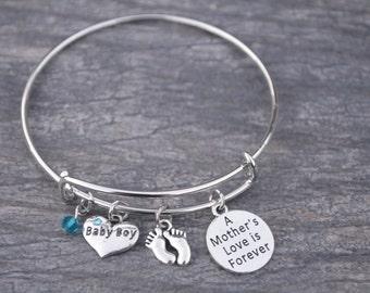 ade3ef67d5f8b Mom Bracelet-Mom Son Charm Bracelet-Makes the Perfect New Mom Gift- Baby  Shower Gift or Baby Gift