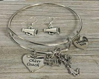 Cheer Coach Gift -Cheer Coach Bracelet, Coach Bracelet, Coach Jewelry – Cheer Gift - Cheerleading Coach - Perfect for Cheer Coaches