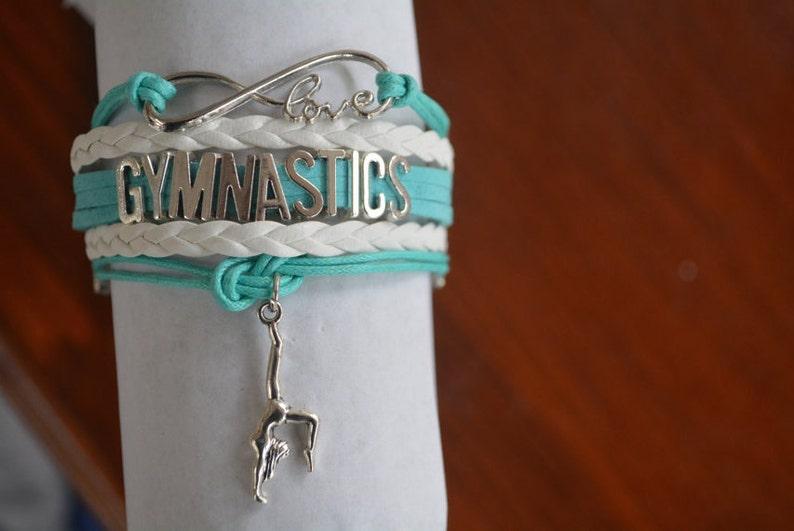 Gymnastics Gift Gymnastics Bracelet  Gymnastics Gift  image 0