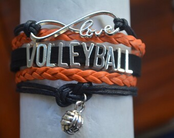 Volleyball Bracelet, Volleyball Gift, Volleyball Charm Bracelet, Volleyball Jewelry- Perfect for Volleyball Players, Coaches & Team Gifts
