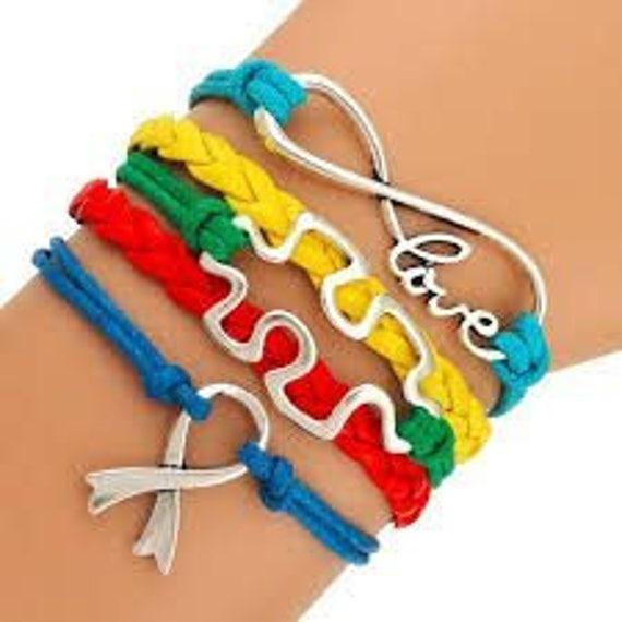 Autism Bracelet Autism Mom Open Cuff Autism Puzzle Piece Gift Autistic Encouragement Gift Autism Awareness Jewelry