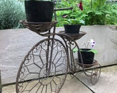 Bicycle ,Cycle Plant Stand , Metal Plant Stand , Candle Holder Ornament , Vintage Garden, Gardenalia