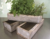 Herb Planter , Windowsill Planter , Table Decoration, Metal Storage Tray , Poultry Feeder