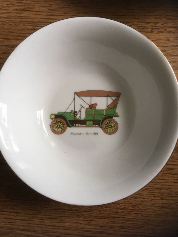 Vintage Car Design Ceramic Soup Or Side Bowl French Cuisine Etsy