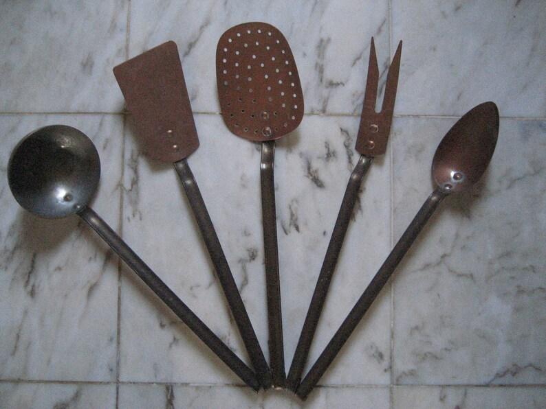 Vintage French Kitchen Copper Utensils