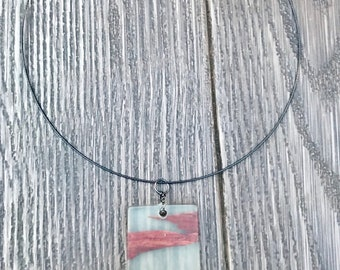 how to make a wood resin necklace
