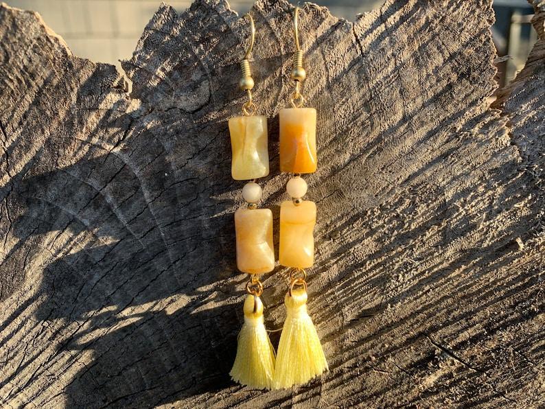 Lemon Jade earrings