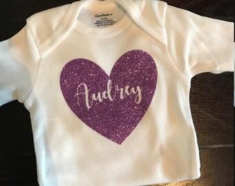 Personalized Baby Onesie   Custom Baby Onesie   Name Baby Onesie   Onesie with Name   best friend baby shower gift   baby shower gift  