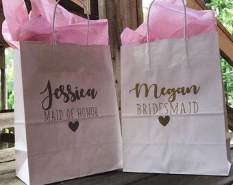 Bridesmaid Gift Bag | Bridesmaid Bag | Bridal Party Gift Bags | Maid of honor gift bag | Will you be my bridesmaid? | Bridal party gift bag