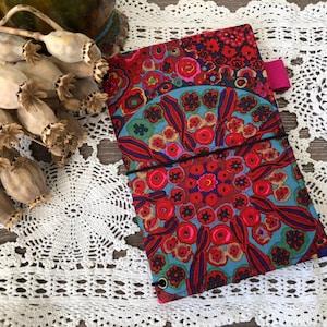 Fuchsia Feathers Personal Fabricdori Travelers Notebook