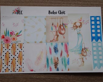 Boho Chic Mini Sticker Kit --- Clearance