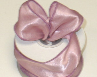 Jelly Beans Canvas Wired Edge Ribbon Pale Pink, Pastel, 1.5 10 Yards