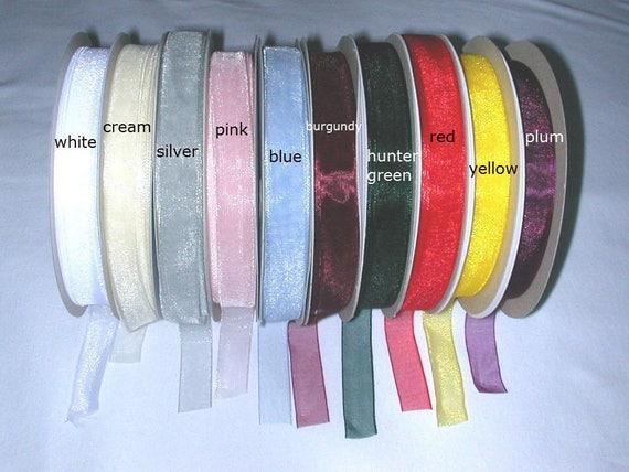 "25 metre 27 1//2 yds Reel of 15mm 5//8/"" Satin Edged Organza Ribbon SILVER"