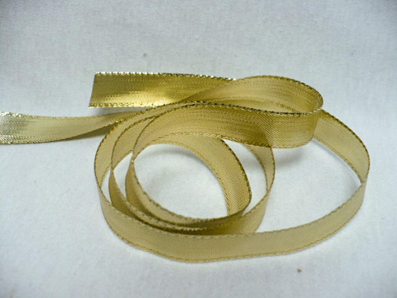 """3 Yards Metallic Gold Twisted Rope Center Christmas Wired Ribbon 1 1//2/""""W"""
