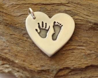 Heart Personalised Handprint Pendant