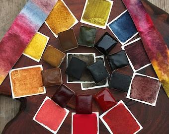 AKOOSTIK Series Premium Plant Based Watercolor Set of 12 Jazper Stardust Rare Pigment Handmade Watercolors