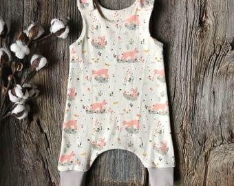 976706d7849 Organic Baby Harem Romper