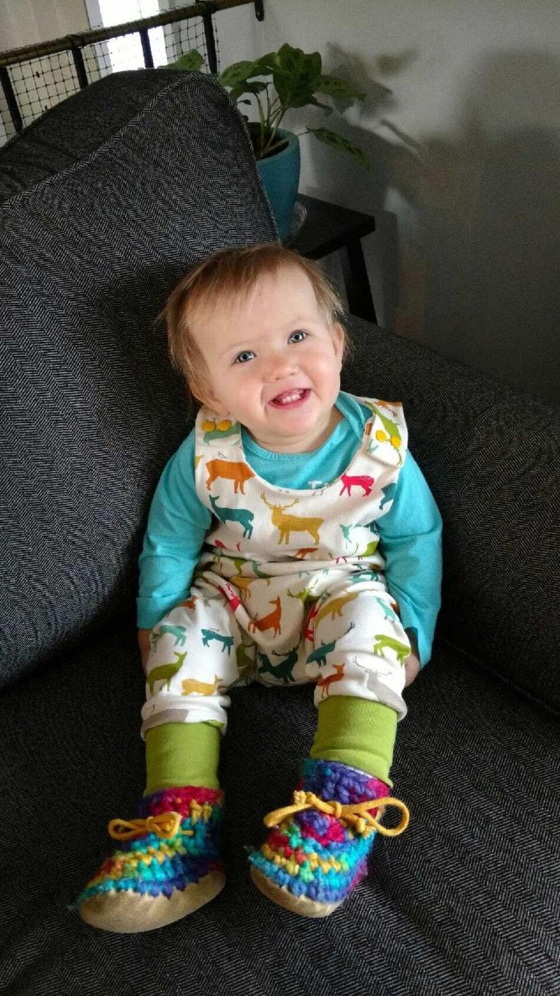 Boho Romper Baby Harem Romper Floral Romper Baby Romper Baby Harem Romper Turquoise Romper Baby Girl Romper