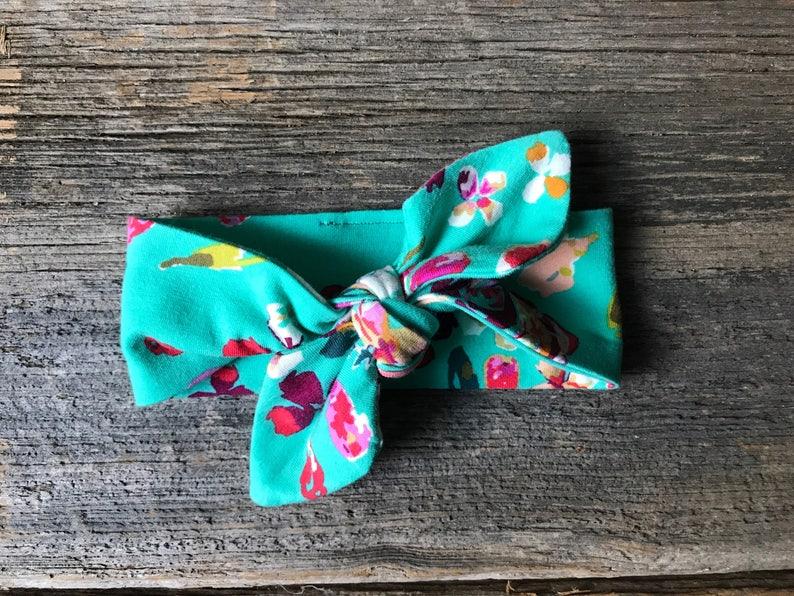 Baby Headband Knotted Headband Turquoise Headband Floral Headband Knotted Headband Boho Headband *** BOHO FLORAL ***