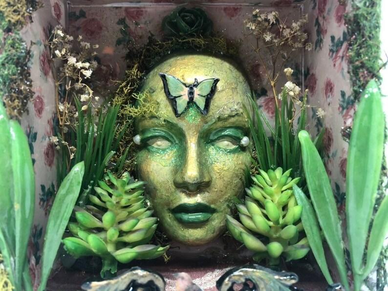Garden fairy shadowbox