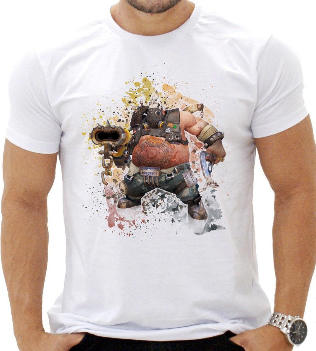 Overwatch chauffard Tshirt, jeu Tee Shirt Overwatch, idée cadeau, Overwatch gamme T-Shirt DTG, tee-shirt Unique, haut de gamme Overwatch qualité unisexe Shirt,no.039 b0133b