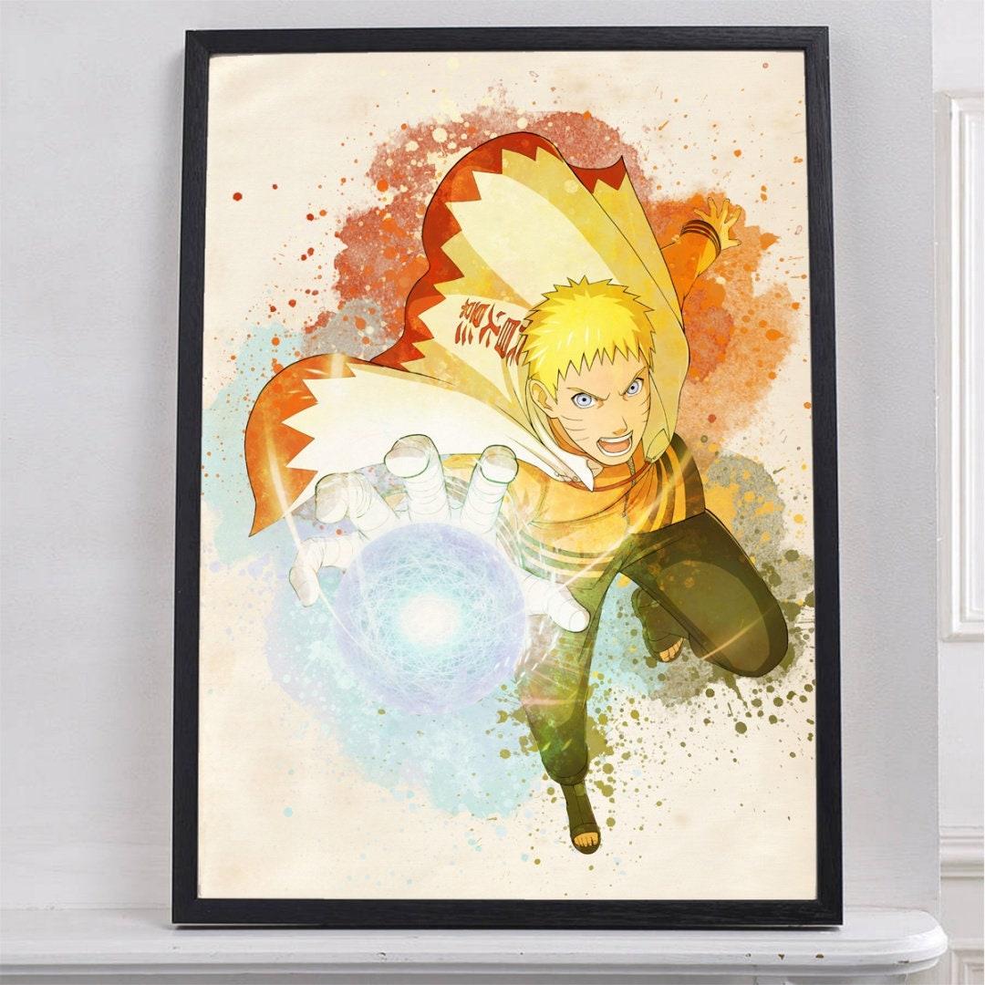 Hokage Naruto Print Poster Watercolor Wall Decor Gifts Office | Etsy