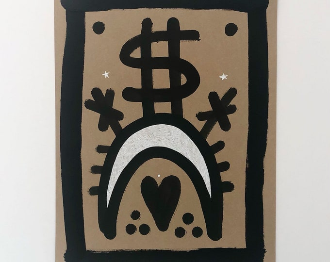 Money Moon original artwork