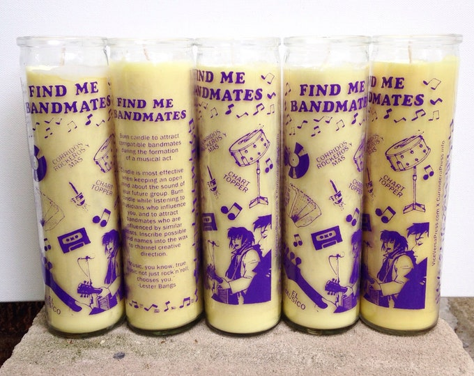 Find Me Bandmates prayer candle