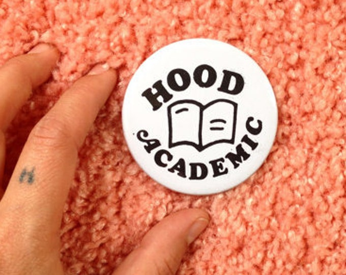 Hood Academic pinback badge